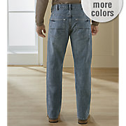 men s relaxed fit straight leg jean by lee
