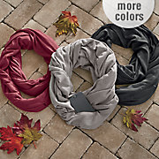 solid infinity scarf with pocket