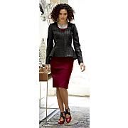 mariana faux leather jacket dress