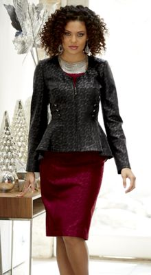 Mariana Faux-Leather Jacket Dress