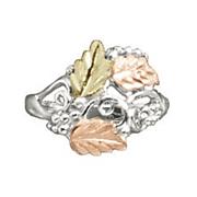 black hills gold 3 leaf ring