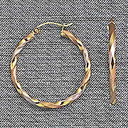10k gold tri color twist hoop earrings