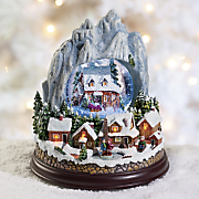 limited edition mountain village snowglobe