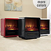 mini portable cube fireplace heater by duraflame