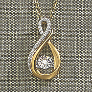 diamond heartbeat infinity necklace