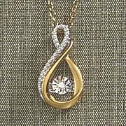 diamond heartbeat infinity necklace