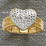 diamond cushion heart ring