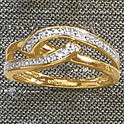 diamond double swirl ring