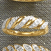 diamond 5 swirl ring 194