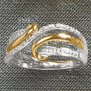 diamond scroll and swirl ring