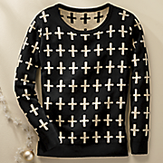 women s cross sweater