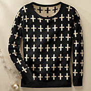 women s cross sweater