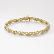 diamond x bracelet