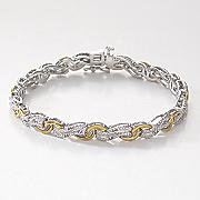 diamond double swirl bracelet
