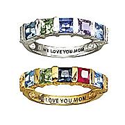 square birthstone ring