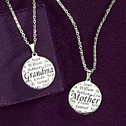 Stainless Steel Name Grandma or Mother Necklace
