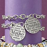 mother grandma name pendant bracelet