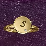 initial diamond ring