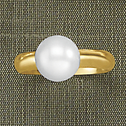 10k gold pearl solitaire ring