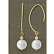 10k pearl dangle earrings