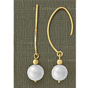 10k pearl dangle earrings