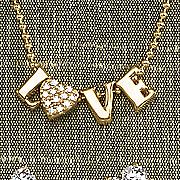 white topaz love necklace