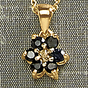 gemstone and diamond star pendant