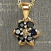 gemstone and diamond star pendant