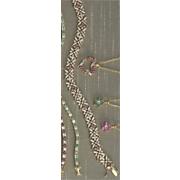 ruby flower bracelet with diamond accents