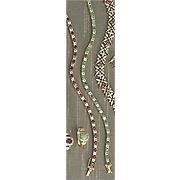 gemstone bracelet with white topaz