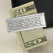 stainless steel lord s prayer money clip