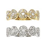10k gold diamond vintage circle bridal band
