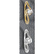 10k diamond solitaire swirl ring