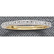 15 ct gold diamond channel band