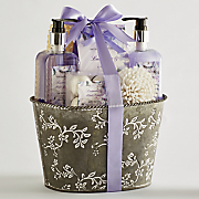 Lavender Mint Bath Set with Tin
