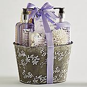 lavender mint bath set with tin