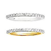 35 ct gold diamond channel band