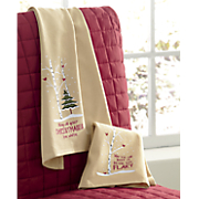 set of 2 snowy towels