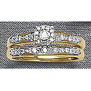 square diamond bridal set 180