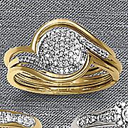 round 3 pc  diamond bridal set