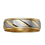 men s diamond 10k two tone swirl ring
