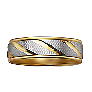men s diamond 10k two tone swirl ring