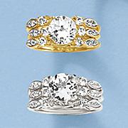 white topaz marquise 3 pc  bridal set