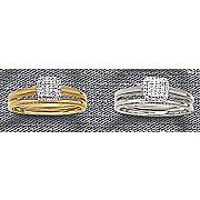 10k diamond cushion bridal set
