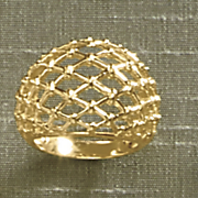criss cross dome ring