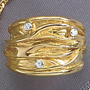 wide band with diamonds