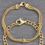 3 row foxtail bracelet