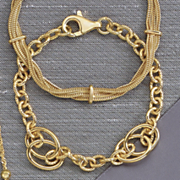 interlocking circle bracelet