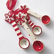 ceramic snowflake measuring spoons