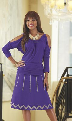 Hailey Cold Shoulder Top and Abigail Skirt